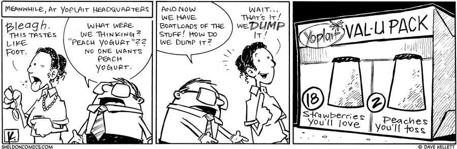 strip for February / 2 / 2011 - What happens at the Yoplait headquarters?