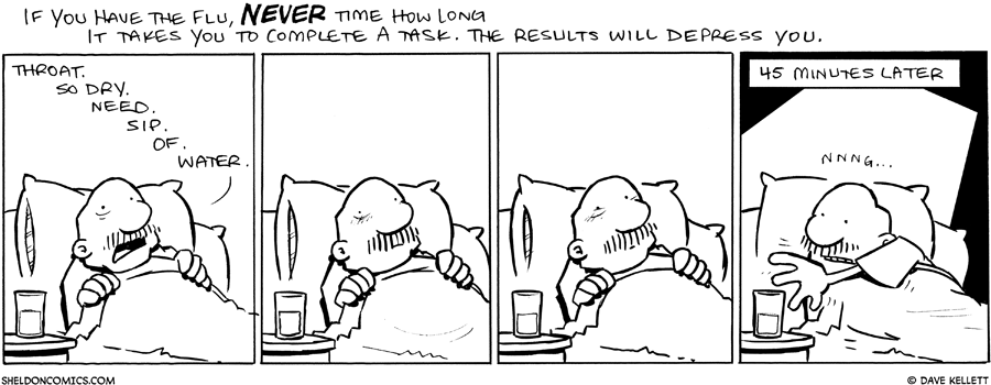 strip for February / 14 / 2011 - If you have the flu, never...
