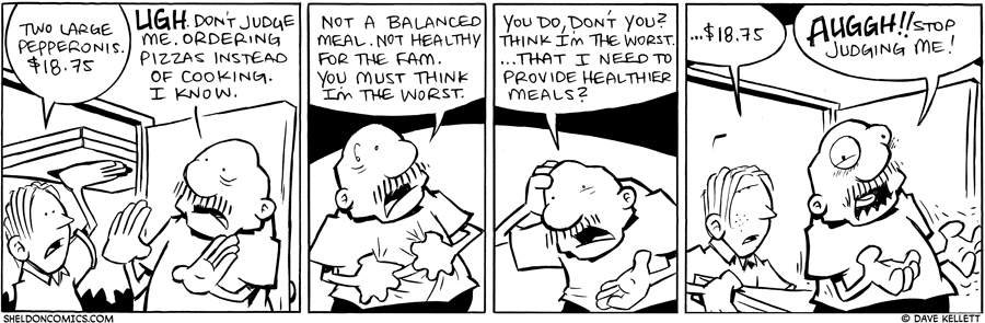 strip for February / 21 / 2011 - Gramps orders pizza and...
