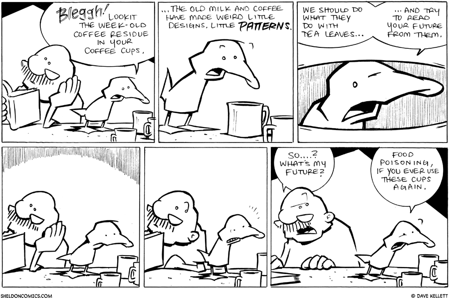 strip for March / 1 / 2011 - Arthur looks in Gramps old coffee cups and finds...