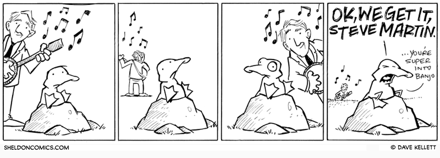 strip for March / 8 / 2011 - What is Arthur listening to?