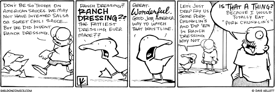 strip for March / 22 / 2011 - What does Sheldon think about American sauces?