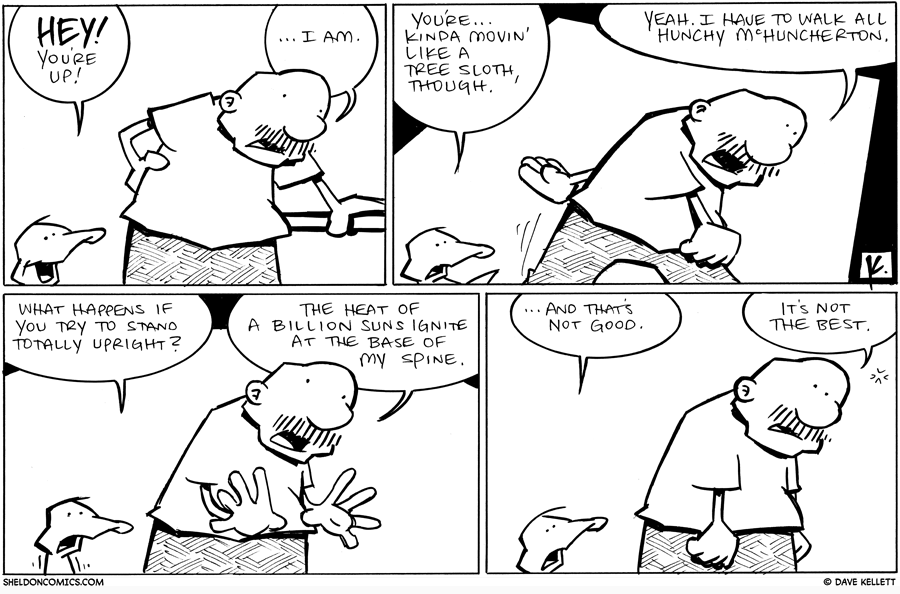 strip for May / 5 / 2011 - Will Gramp recover from throwing his back out?