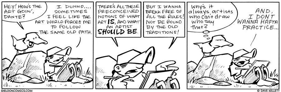 strip for May / 13 / 2011 - How's the Art goin,' Dante?