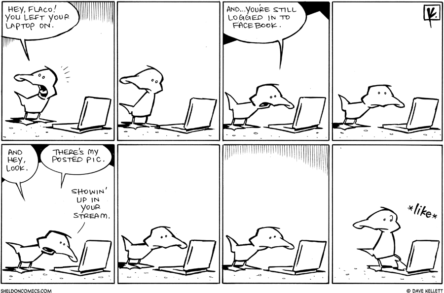 strip for May / 20 / 2011 - What did Flaco leave on?