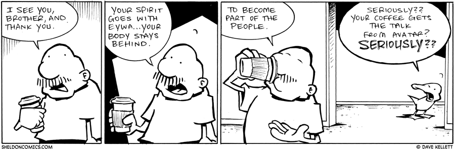 strip for May / 24 / 2011 - What does Gramps say to his coffee?