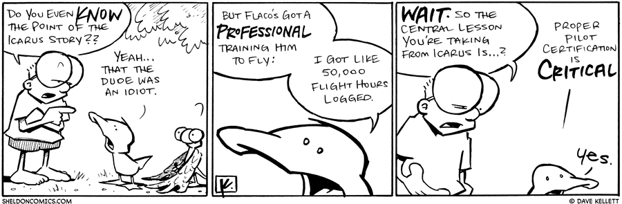 strip for June / 8 / 2011 - Do you even know the point of the Icarus story?