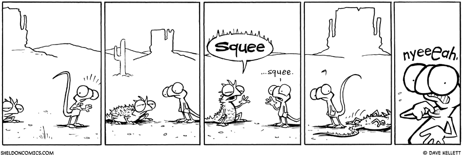 strip for June / 21 / 2011 - In the desert, Flaco meets...