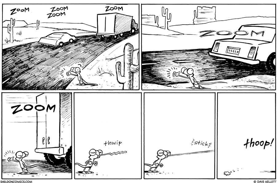 strip for June / 22 / 2011 - What does Flaco do to get home?