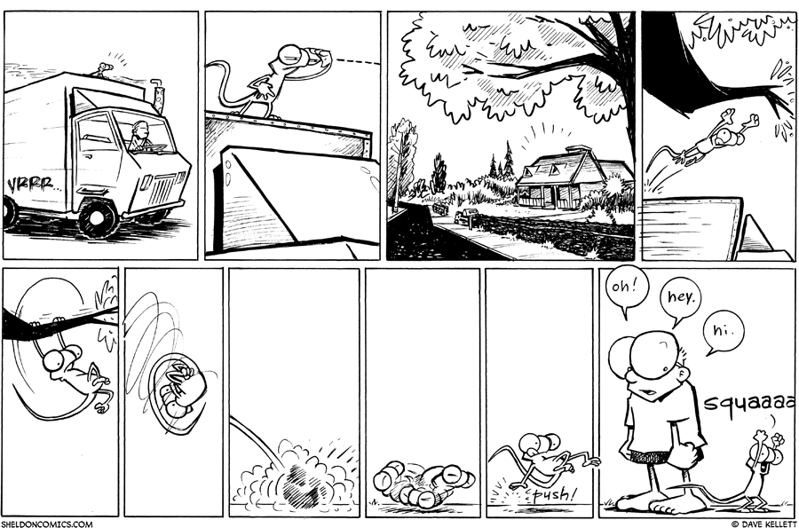 strip for June / 23 / 2011 - Flaco sees...