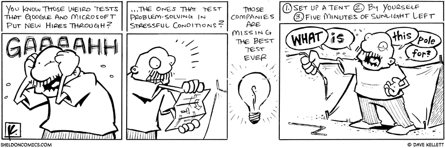 strip for June / 29 / 2011 - You know those weird test that google and microsoft put new hires through?