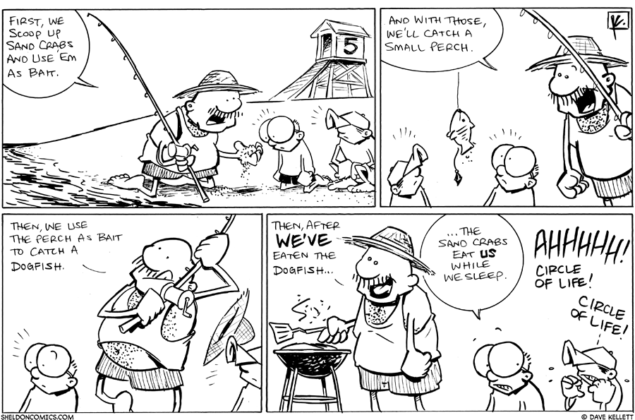 strip for June / 30 / 2011 - Gramp teaches Sheldon and Dante to...