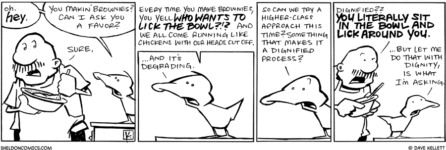 strip for July / 7 / 2011 - You makin' brownies?