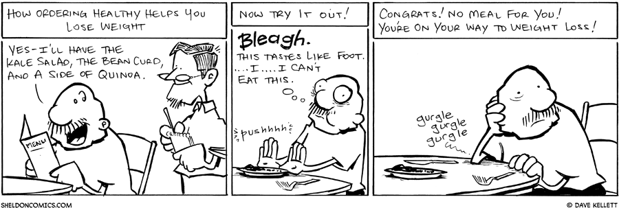 strip for July / 13 / 2011 - How does ordering healthy help you lose weight?
