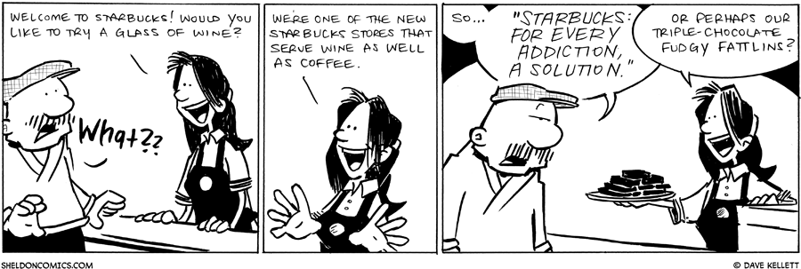 strip for July / 15 / 2011 - Would you like to try a glass of wine?