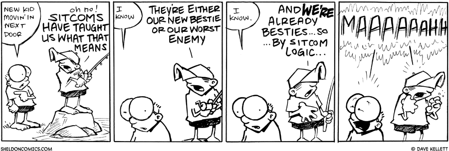 strip for July / 19 / 2011 - What does Dante think of the new kid movin' in next door?