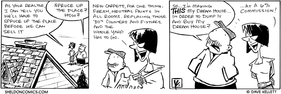 strip for October / 20 / 2011 - What does Gramp have to do before they can sell the house?