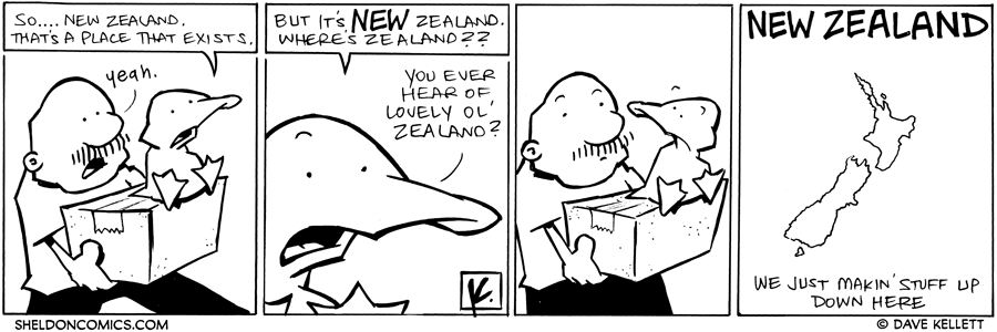 strip for November / 3 / 2011 - What does Arthur question about New Zealand?