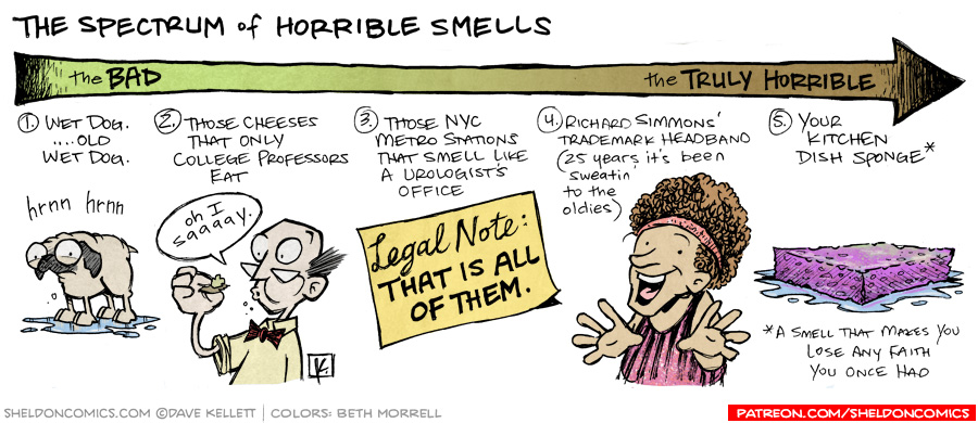 strip for November / 11 / 2011 - What would be on the spectrum of horrible smells?