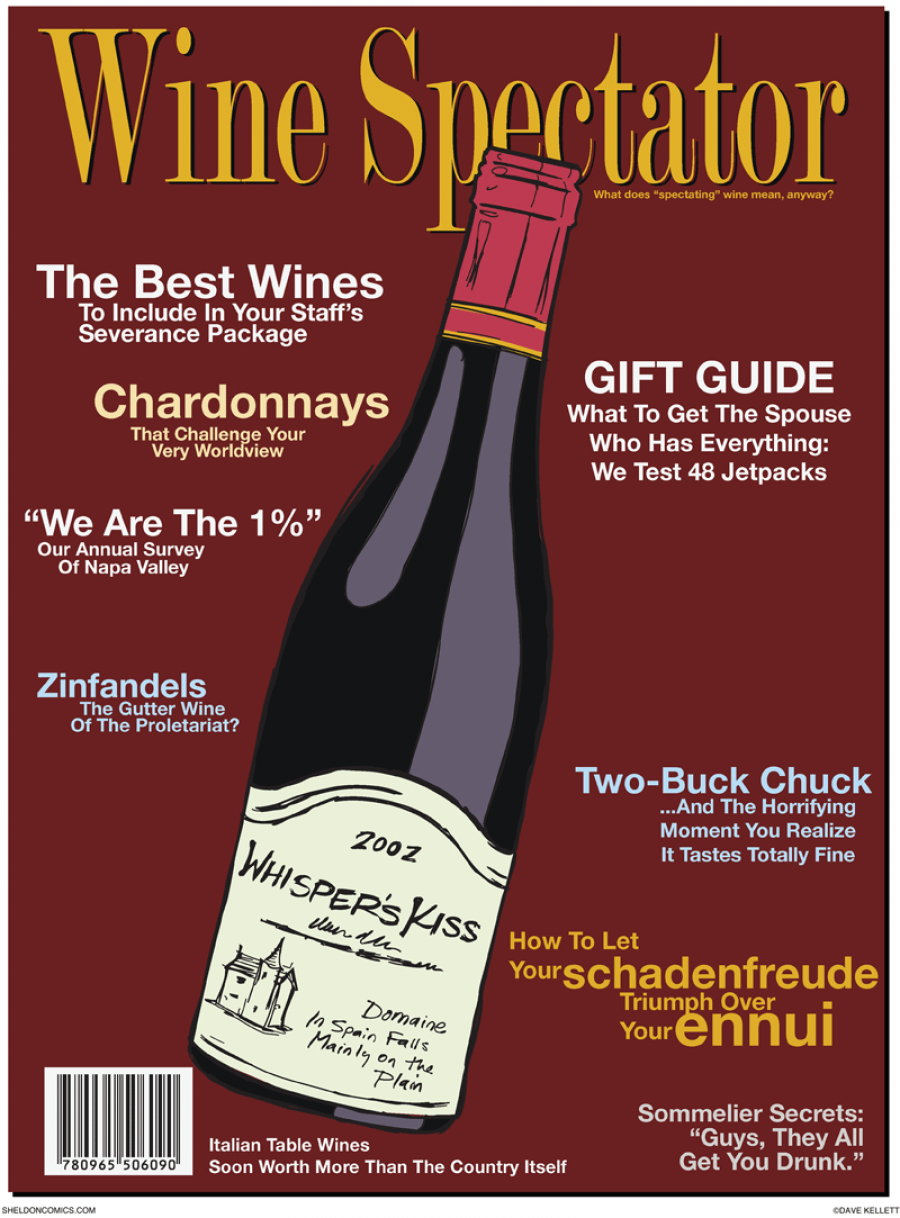 strip for November / 15 / 2011 - What is on the cover of Wine Spectator?