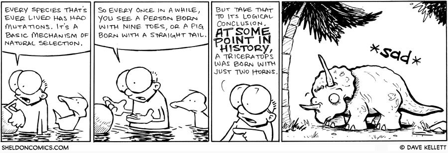 strip for November / 21 / 2011 - Every species that's ever lived has had...