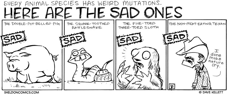 strip for November / 22 / 2011 - What are some sad mutations?