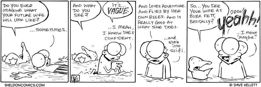 strip for November / 30 / 2011 - Do you ever imagine what your future wife will look like?