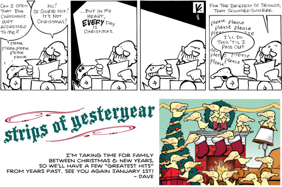 strip for December / 22 / 2011 - Can I open that big Christmas gift addressed to me?