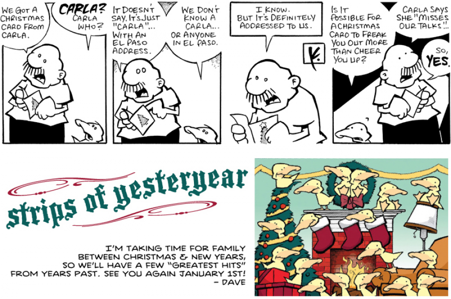 strip for December / 28 / 2011 - Who did they get a Christmas card from?