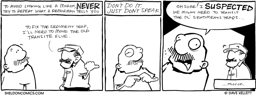 strip for January / 26 / 2012 - To avoid looking like a moron...