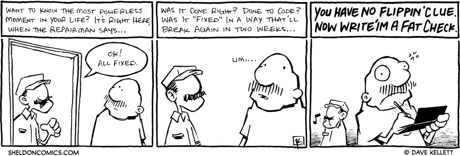 strip for January / 27 / 2012 - What is the most powerless moment of your life?