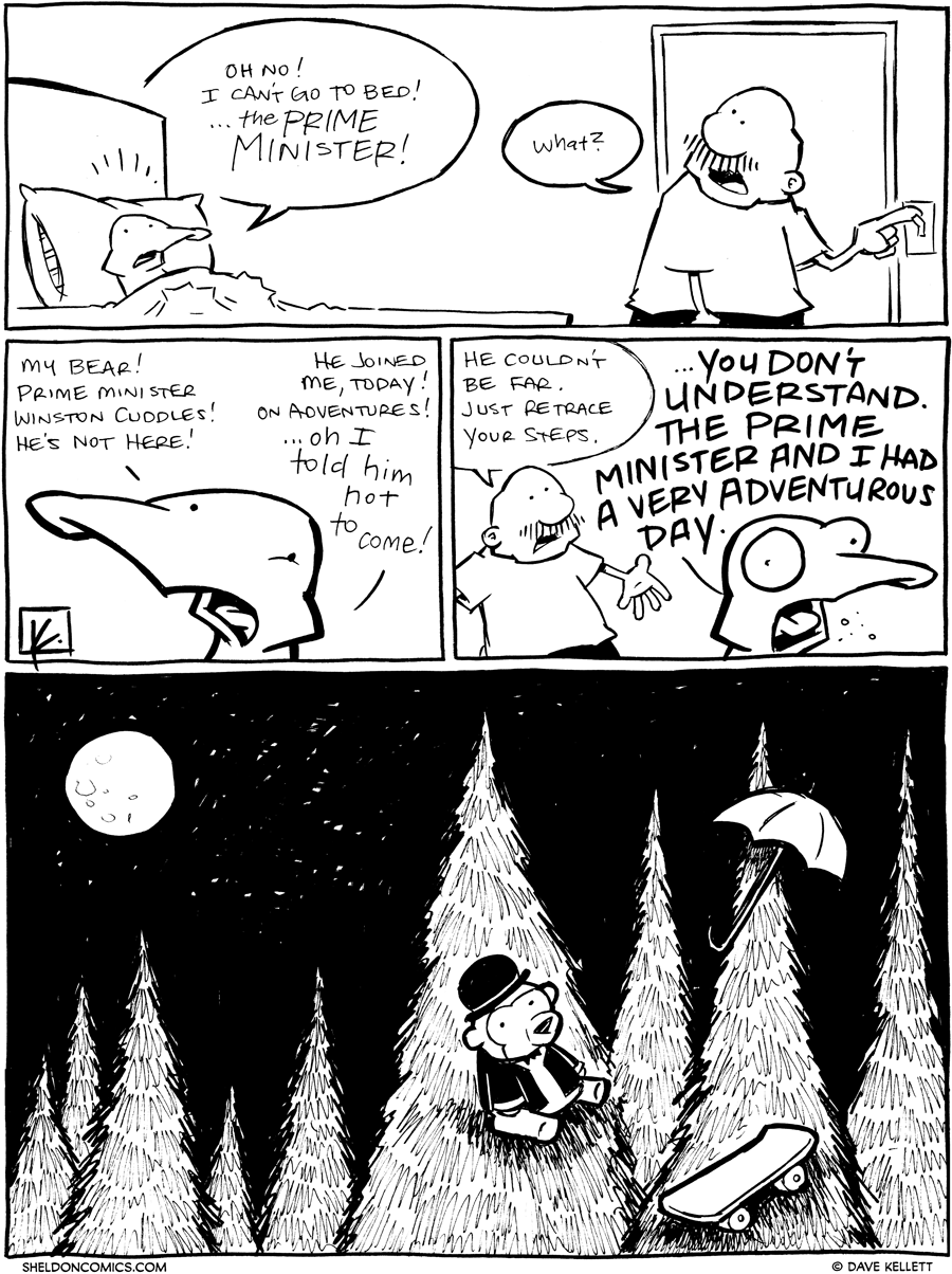 strip for January / 30 / 2012 - Why can't Arthur go to bed?