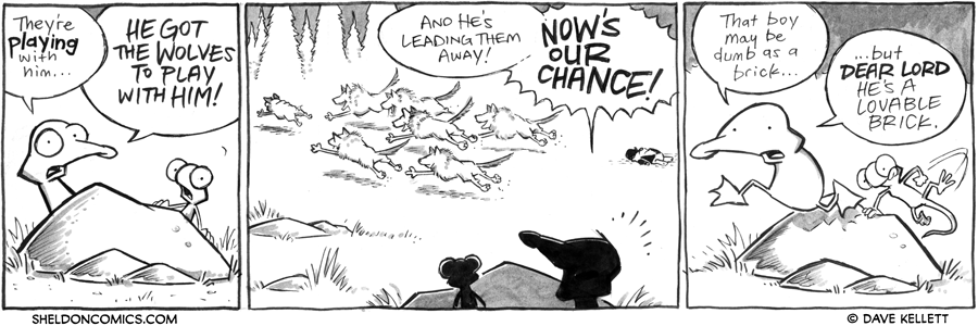 strip for February / 9 / 2012 - What happens to Oso and the wolves?