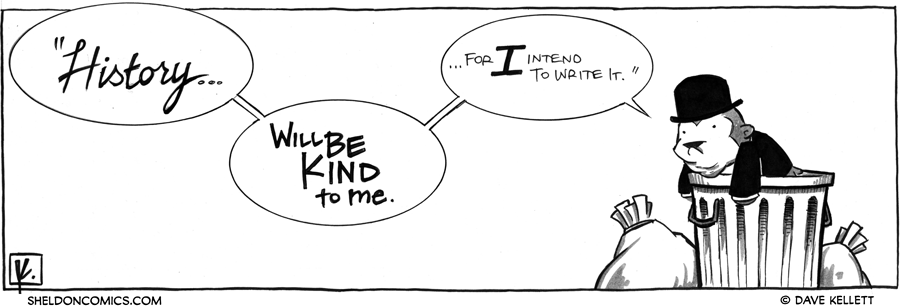 strip for February / 14 / 2012 - What does Winston Cuddles say now?