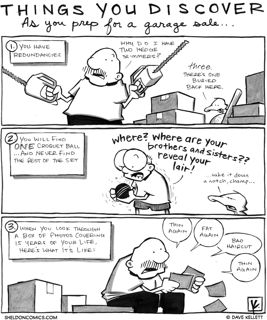 strip for February / 21 / 2012 - What are things you discover when prepping for a garage sale?