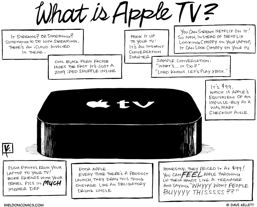 strip for March / 8 / 2012 - What is Apple TV?