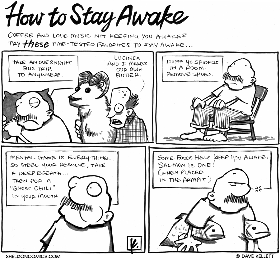 strip for March / 15 / 2012 - How do you stay awake?