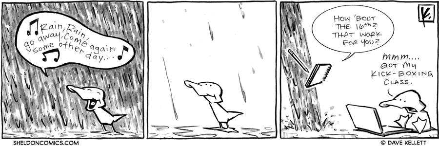 strip for April / 4 / 2012 - What does Arthur say to the rain?
