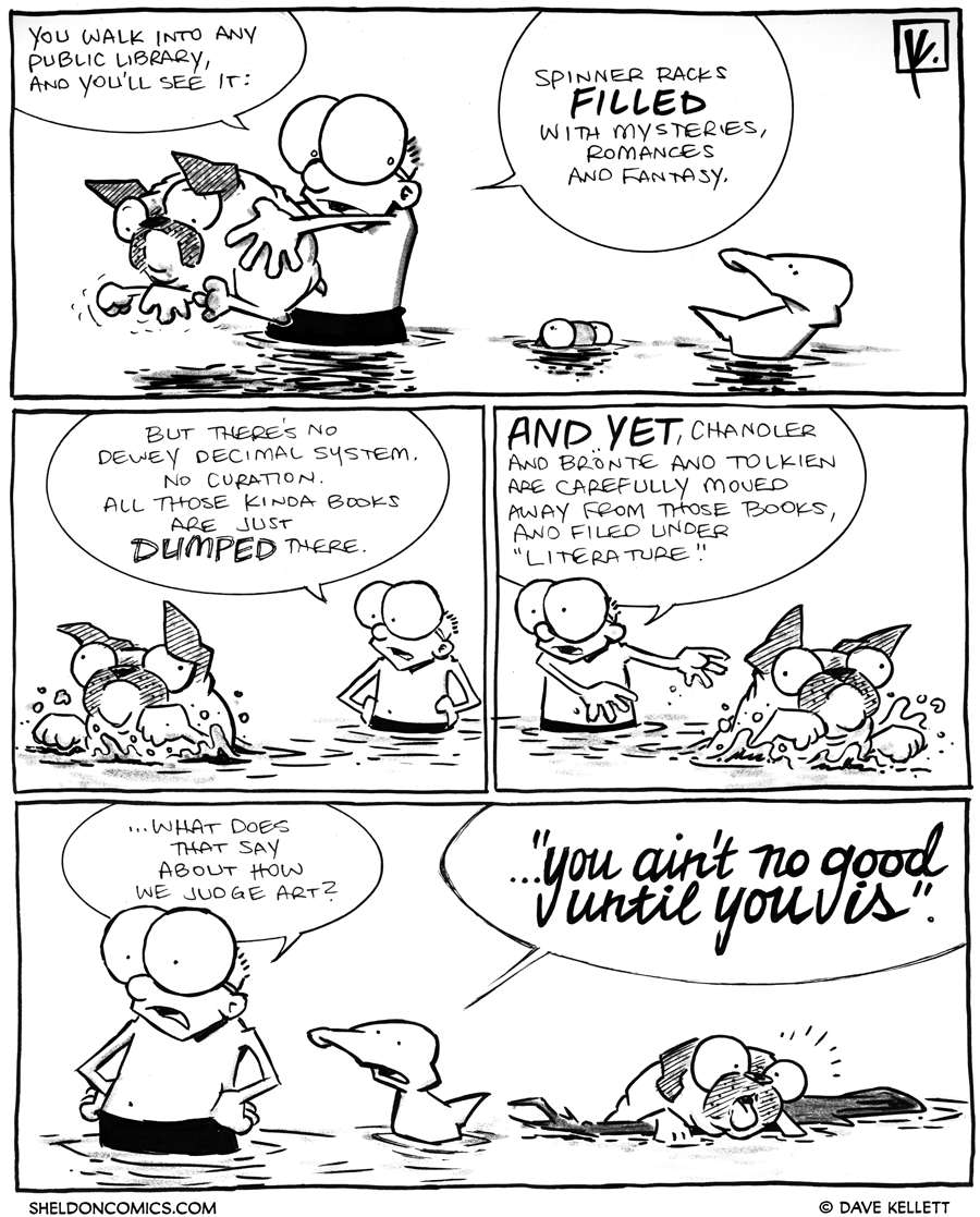 strip for April / 6 / 2012 - What do you see when you walk into a public library?