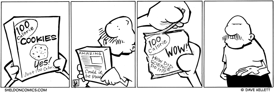 strip for April / 11 / 2012 - 100 calorie cookies?