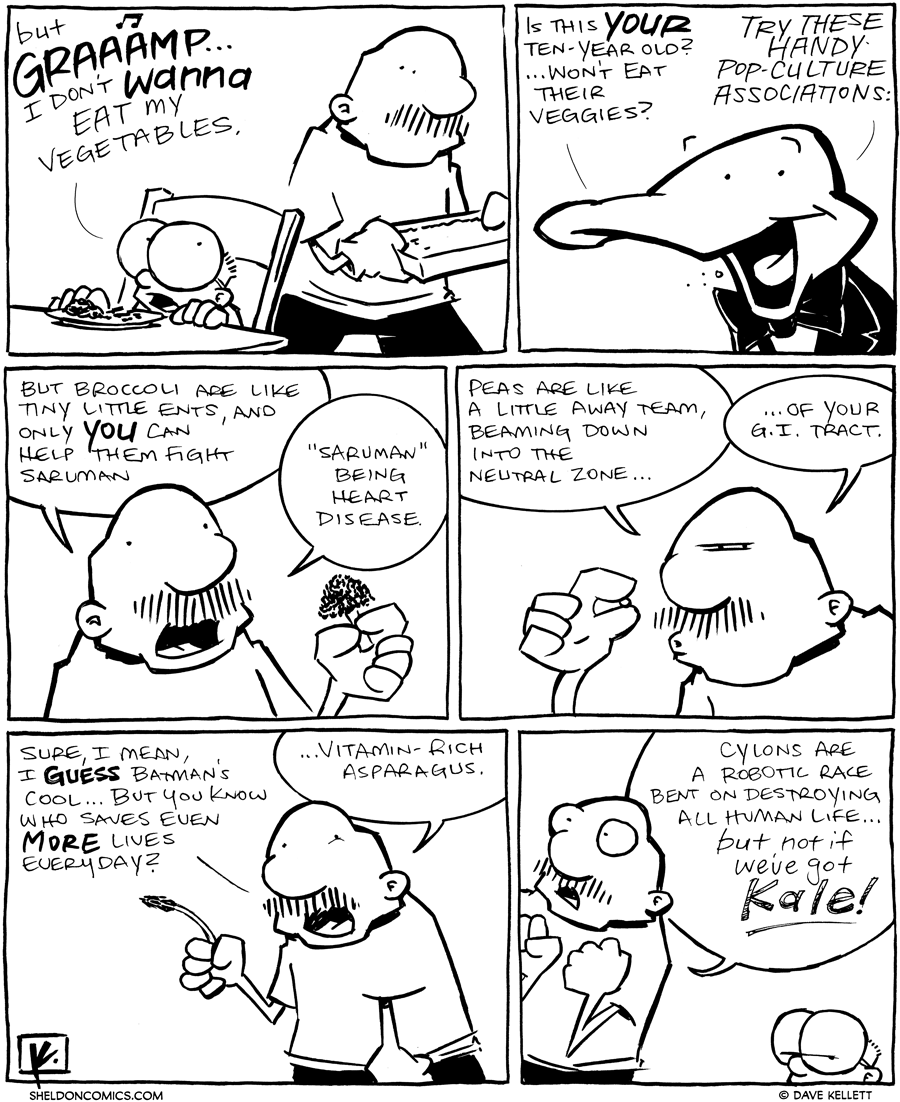 strip for April / 23 / 2012 - How do you get kids to eat veggies?
