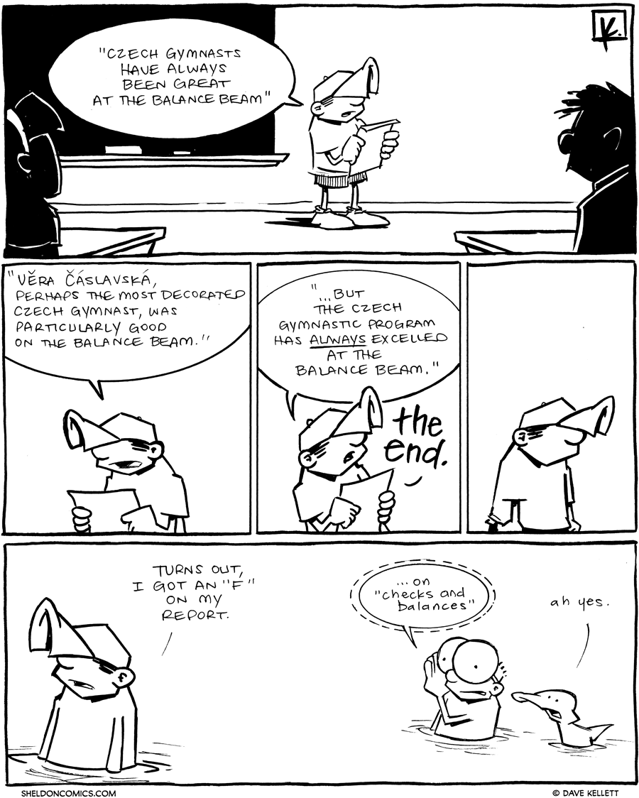 strip for April / 30 / 2012 - Czech gymnasts have always been...