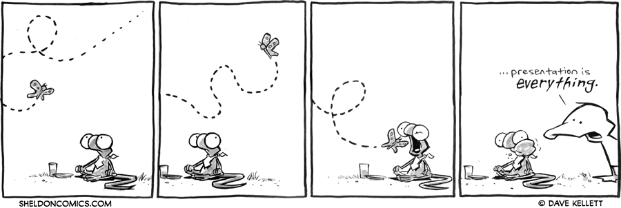 strip for May / 14 / 2012 - Flaco sits on the ground and then...