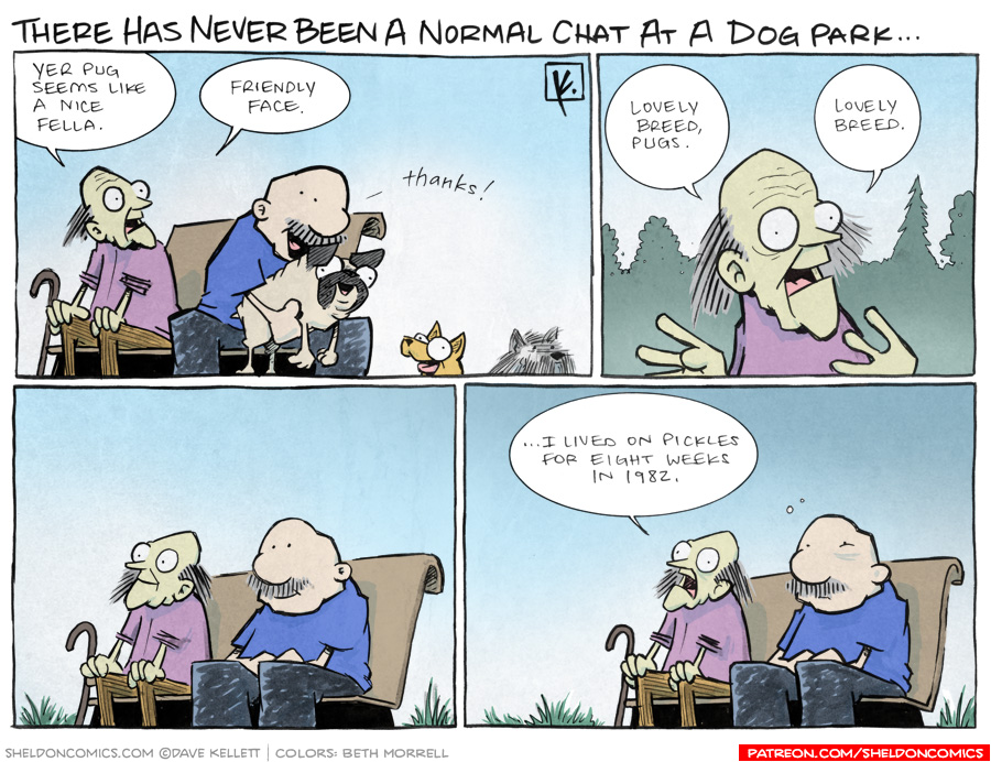 strip for May / 21 / 2012 - What is a conversation like at a dog park?