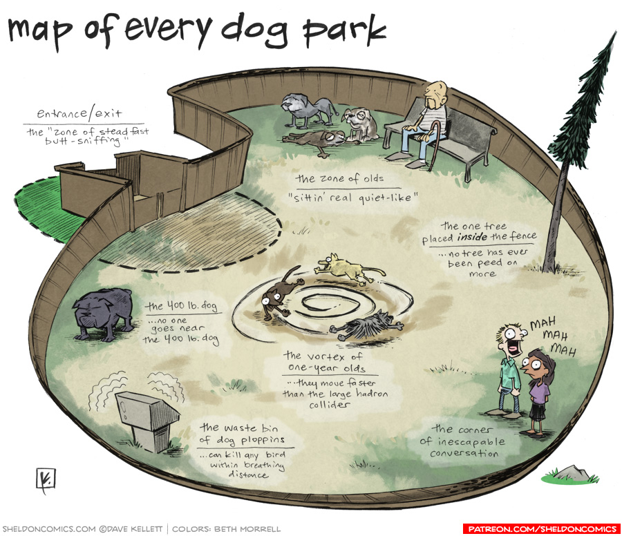 strip for May / 22 / 2012 - What would a map of a dog park look like?