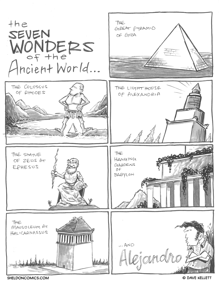 strip for May / 25 / 2012 - What are seven wonders of the ancient world?