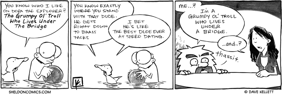 strip for June / 19 / 2012 - Who does Arthur like from Dora The Explorer?