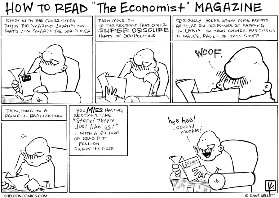 strip for July / 4 / 2012 - How do you read the Economist Magazine?