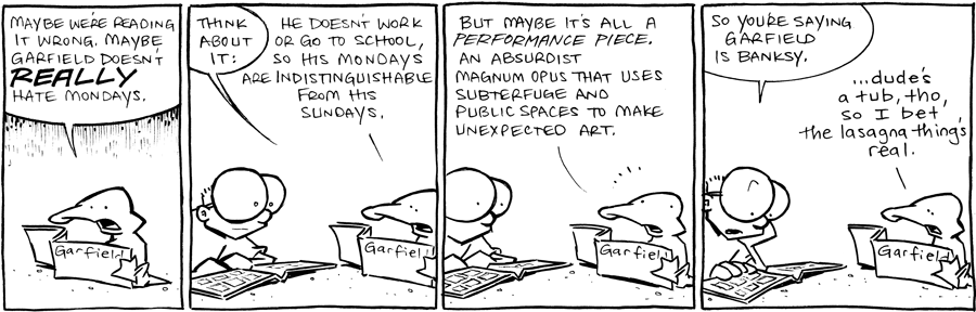 strip for July / 12 / 2012 - Maybe Garfield doesn't...