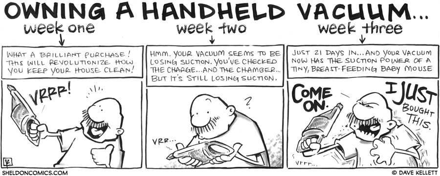 strip for July / 29 / 2012 - Owning a Handheld Vacuum...
